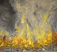 Metsäpalo	 (Forest fire) 85x95