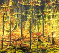 Metsäpalo	 (Forest fire) 86x105