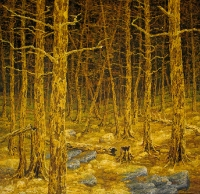 Kelottunut metsä (Deadwood forest) 122x122