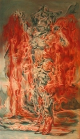 Punainen saunatakki (Red bathrobe) 121x71