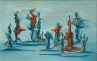 Tanssin pyörteitä (Whirls of dance) 68x105