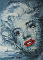 Marilyn Monroe ja sukellusvene (Marilyn Monroe and a submarine) 105x78