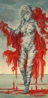 Punainen viitta (Red cape ) 120x70