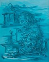 Akka ja myrskylyhty (crone and storm lantern) 80x65