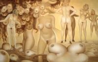 Rintojenteko paikka (Place of making breasts) 67x105