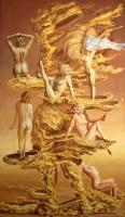 Tuulessa riisuutuva nainen (Woman undressing in the wind) 126x75