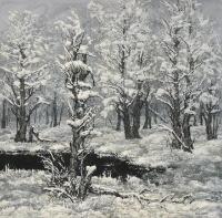 Huurteisia puita (Frosty trees) 102x102