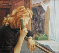 Puhelimessa (On the telephone) 69x77