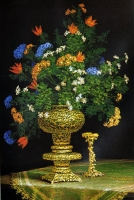Kultainen kynttilänjalka (Golden candlestick) 105x75